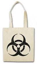 BIOHAZARD SIGN COTON SAC - en toile de jute - Mise garde Danger Bouclier Logo