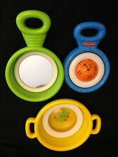 Vintage 1988 Fisher Price Activity Pots & Pans Toddler Toys EUC