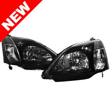 02-05 HONDA CIVIC SI EP3 HATCHBACK JDM STYLE HEADLIGHTS - BLACK / CHROME