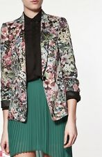 Zara Winter Floral Blazer With Silk Lining