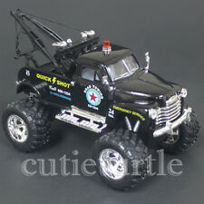 Kinsmart Off Road Big Foot Monster 1953 Chevy 3100 Wrecker Tow Truck 1:38 Black