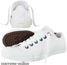 Men CONVERSE All Star WHITE MONOCHROME CHUCK TAYLOR OX Trainers Shoes UK SIZE 12