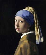 Girl with a Pearl Earring Het Meisje met de Parel Canvas Print by Vermeer Poster