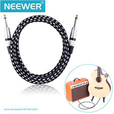 Neewer 10 Feet Guitar Cable with Straight 1/4-Inch TS to Straight 1/4-Inch TS