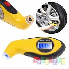 LCD Digital Car Motorcycle Tire Tyre Air Pressure Gauge Tester Tool Auto
