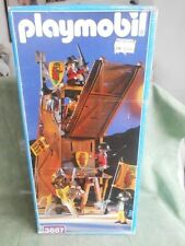 Vintage Playmobil 3887 Medieval Knights Castle Siege Tower w. 6 Knights NEW MISB