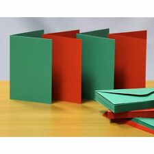Craft UK blank greeting card & envelope A6/C6 red & green Christmas colors x 50