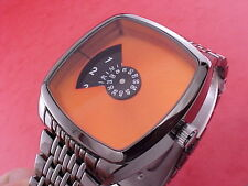 NEW DESIGN 70s Jump Hour Digital Vintage Retro Style Led Lcd era Watch GUN/Orang