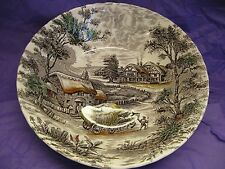 """Yorkshire Staffordshire Ironstone Made in England 8 7/8"""" Vegetable Bowl Mint"""