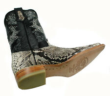 Men's Snip Toe Genuine Python Skin Leather Cowboy Western Boots Style Python 3X