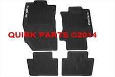2014-2016 Nissan Rogue All Weather Rubber Front/Rear Floor Mats 4pc SET OEM NEW