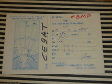 QSL CARD CARTE RADIO republica de chile magallanes