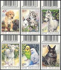 New Zealand 1999 Pets/Dog/Cat/Horse/Rabbit/Lamb/Budgies/Birds/Animals 6v (b6772)