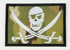 US NAVY SEALS SPECIAL WARFARE SKULL ARMBAND VELCRO PATCH MULTI CAMO-32769