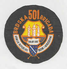 BOSNIA ARMY - 501  MOUNTAIN BRIGADE - BIHAĆ ,differ. cutting - rare sleeve patch