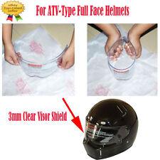 3mm Clear Visor Shield for ATV Motorcycle Bike Kart Racing Full Face Helmet Lens