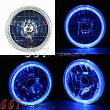 Motorcycle LED Headlight & Blue Halo Ring Light For Harley Duo Electra Glide Hot