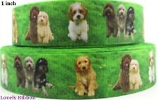 1 metre, TERRIERS, 25mm, Ribbon,Dogs, Pups, 1 inch, Grosgrain, Hair, BUY 5 GET 6