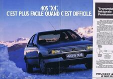 Publicité Advertising 016 1989 Peugeot 405 4x4    (2 pages)