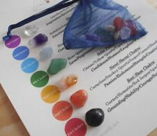 CHAKRA SET - 7 HEALING CRYSTALS (Small) 10mm-12mm - REIKI HEALING, MEDITATION
