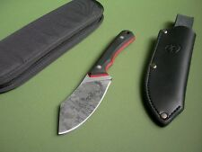"ZOMBIE TOOLS ZT CUSTOM KNIFE ""BUSHLICKER"" NESSMUK / BLACK G10 / ORIGINAL SHEATH"
