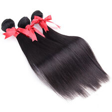 "100% Unprocessed 3Bundles 12"" Virgin Remy Indian Straight Human Hair Extension"
