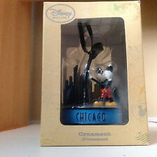 Disney Mickey Mouse Light-Up Ornament Mickey hangs on to a lamp post -Chicago
