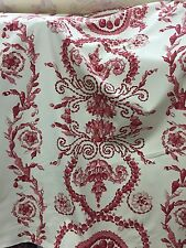 BEACON HILL COTTON COQUILLAGE SHELL Fabric CORAL/TERRACOTTA 25 YDS-MSRP $333/YD!