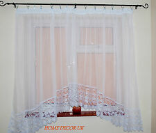 Lovely White Voile Net Curtain Beautiful Wide Lace Home Window Decoration