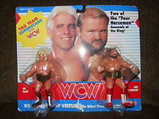 "GALOOB/ljn/remco WCW/wwf/awa RIC FLAIR/ARN ANDERSON""UK""edit moc four horsemen,91"