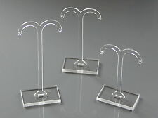 3 X DROP STUD EARRING JEWELLERY DISPLAY STANDS RACKS, CLEAR ACRYLIC.
