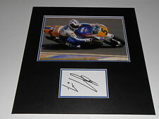 Wayne Gardner Hand Signed Rothmans Honda Photo Mounted Large.
