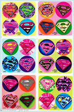 Supergirl Dot Stickers x 24 (6 sheets) - Favours - Superman/Super Heros Dots!
