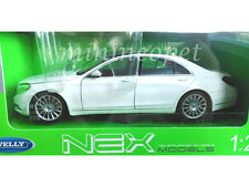 WELLY 24051 MERCEDES BENZ S CLASS 1/24 DIECAST MODEL CAR WHITE
