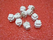 10 PCS C&K COMPONENTS D6C00F1LFS PUSH BUTTON KEY SWITCH SPST-NO SQUARE WHITE