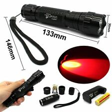 Cree XM-L T6 800LM 501B LED Tactical Flashlight Torch+18650+Charger Red Light