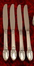 1847 Rogers FIRST LOVE Set of 4 Modern Dinner Knives 1937 ART DECO Vintage