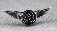 Metal Enamel Pin Badge Brooch Winged Wheel Tribute Angel Heaven Biker Rider