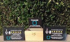 Uber Lyft Tip Box Jar Tips 5 Star Rating Sign Logo Decal LED Glow In The Dark
