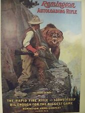 Set of 4 Vintage Remington Firearms & Ammo Ad Posters (circa 1920) Reproductions