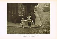 1910's Old Vintage Asian Chinese Dupont Jackson St Genthe Photo Gravure Print