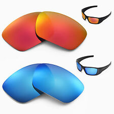 New Walleva Polarized Fire Red + Ice Blue Lenses For Oakley Fuel Cell