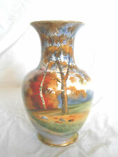 Noritake hand painted vase Lovely chipped Japan