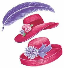 Red Hat Society Items Ladies RHS Hats Purple Feathers 25 Wallies Stickers Decals