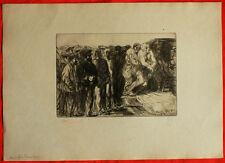 Lithographie-Henri de Groux - L'ambulance
