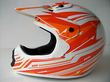 NEW THH ORANGE Sz L MOTOCROSS ENDURO HELMET ROAD LEGAL GOLD ACU KTM EXC XCF SX