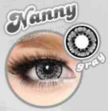Lentilles de Couleur GRIS Big Eyes NANNY Duree 365j. Filtre Contact UV + Etui