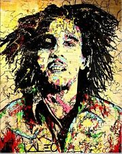 Alec Monopoly OIL PAINTING ON CANVAS HUGE Urban art Wall Decor Bob Marley 24x32""