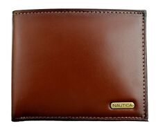 NEW NWT NAUTICA MEN'S PREMIUM LEATHER CREDIT CARD ID WALLET BILLFOLD TAN 6260-04