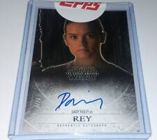 topps STAR WARS The FORCE AWAKENS 1st AUTO AUTOGRAPH on-CARD Daisy Ridley / REY